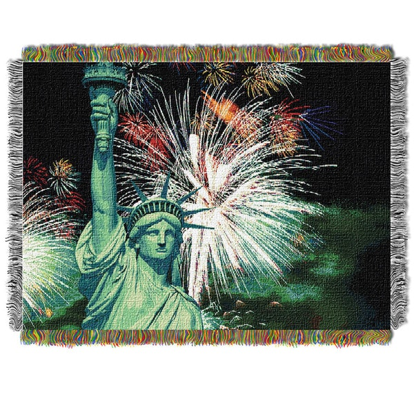 ENT 052 Lady Liberty Tapestry Throw