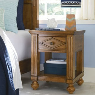 Brookdale Pine and Metal Nightstand