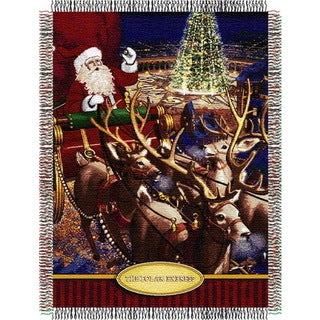 ENT 051 Polar Express Santa Flight Tapestry Throw