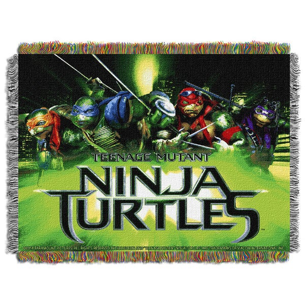 ENT 051 TMNT Movie Poster 0051 Tapestry Throw