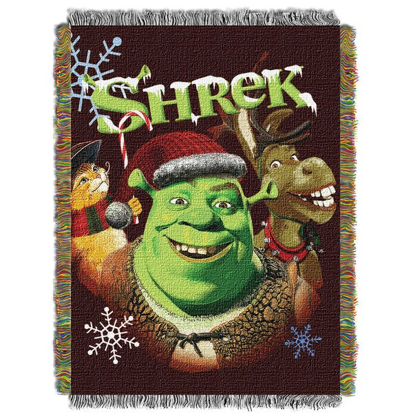ENT 051 Shrek Merry Gathering Tapestry Throw