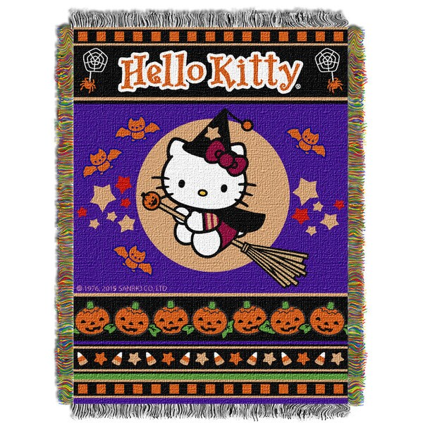 ENT 051 Hello Kitty Witchy Kitty Tapestry Throw