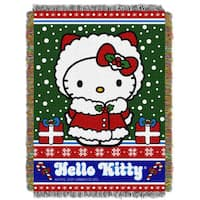 ENT 051 Hello Kitty Snowy Kitty Tapestry Throw
