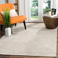 Safavieh Stone Wash Contemporary Hand-Knotted Light Grey Wool Rug - 5' x 8'