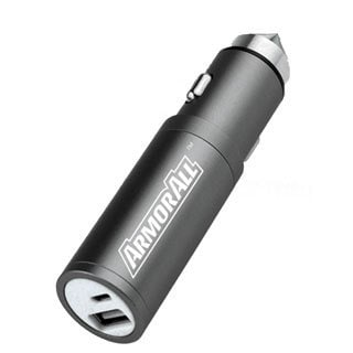 Armor All Black 3-in-1 Car Charger and Battery Bank with Glass Breaker