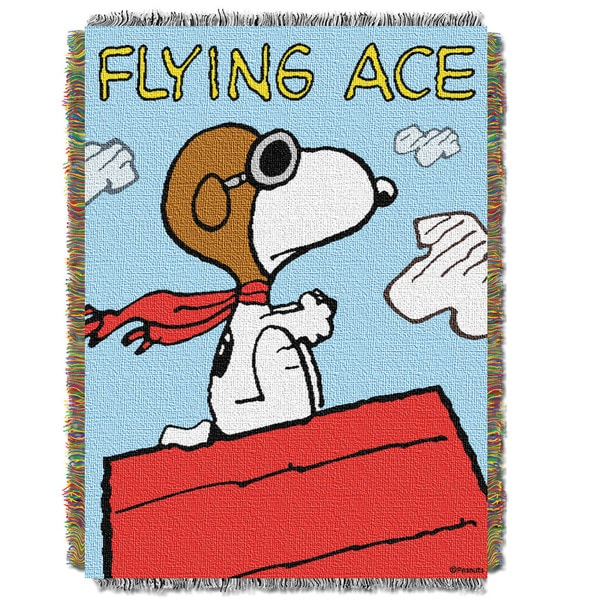 ENT 051 Peanuts Flying Ace Tapestry Throw