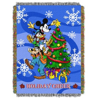 ENT 051 Mickey Spread Cheer Tapestry Throw