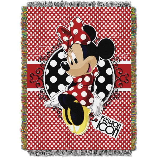 ENT 051 Minnie Bowtique Forever Minnie Tapestry Throw
