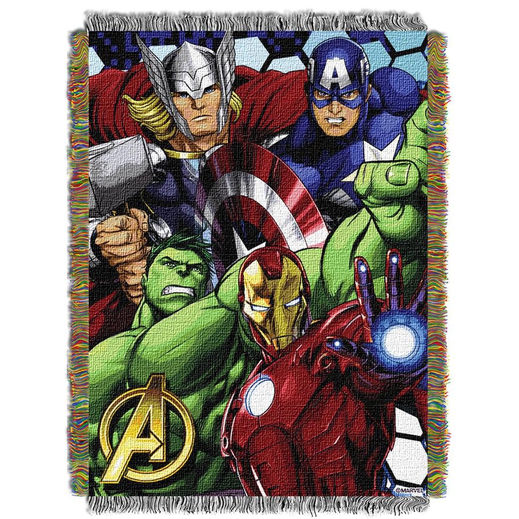 Norwesco ENT 051 Marvel Avengers Best Team Tapestry Throw...