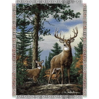 ENT 051 Hautman Bros. King Stag Tapestry Throw