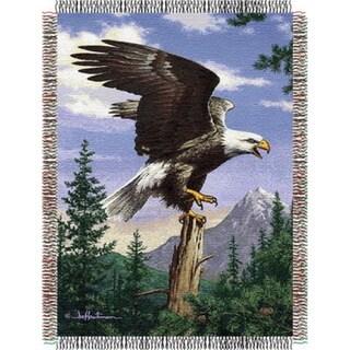 ENT 051 Hautman Bros Eagle Perch Tapestry Throw