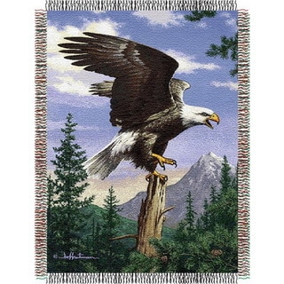 ENT 051 Hautman Bros Eagle Perch Tapestry Throw