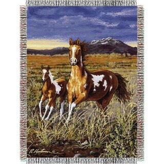 ENT 051 Hautman Bros HB Running Pintos Tapestry Throw
