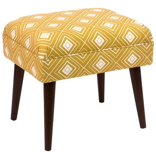 Skyline Furniture Diamond Yellow Print Ottoman
