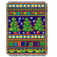 ENT 051 Tree Festivity Tapestry Throw