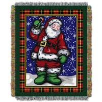 ENT 051 Plaid Sants Tapestry Throw