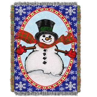 Bright Happy Snowman Throw