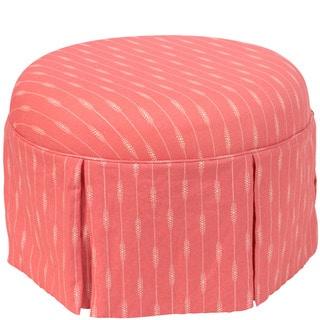 Shop Skyline Furniture Stripe Coral Skirted Ottoman On