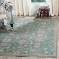 Safavieh Valencia Fuchsia/ Multi Distressed Silky Polyester Rug - 6' x 9'