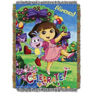 ENT 051 Dora Celebrate Woven Throw