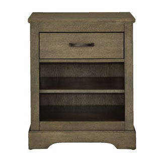 Greyson Taupe Metal and Wood Night Stand