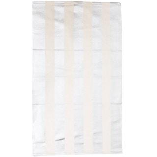 Thro by Marlo Lorenz Cabana Stripe Foil-printed Rug (2' x 4')