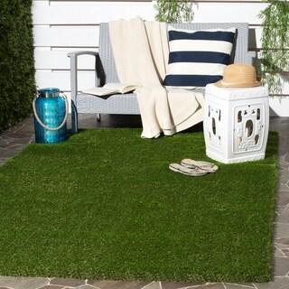 Safavieh Vista Shag Verdant Green Indoor/ Outdoor Faux Grass Rug - 5' x 7'6