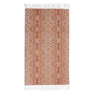 Anders Cotton Printed Fringe Rug (2' x 4') (2 options available)