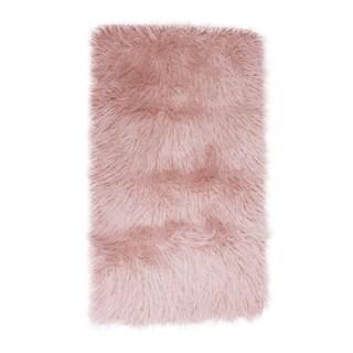 Thro by Marlo Lorenz Keller Faux Fur Mongolian Rug (2' x 4')