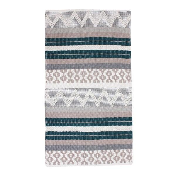 Shop Thro By Marlo Lorenz Jayden Blue/Teal Cotton Textured