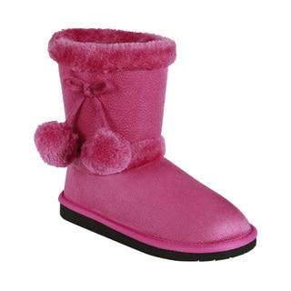 Coshare Kid's Ann-12K Pom-pom Boots