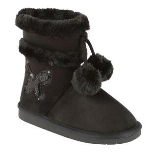 Coshare Kid's Ann-19K Pom-pom Boots