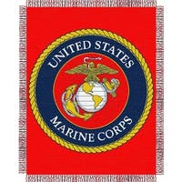 ENT 019 USMC Throw Blanket