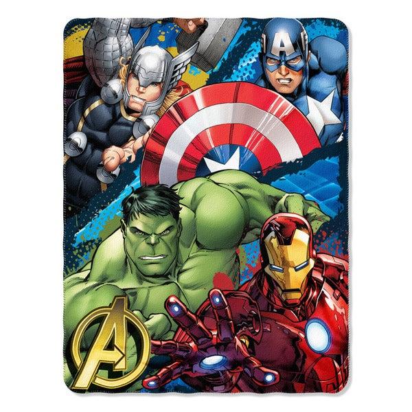 ENT 018 Marvel Defend Earth Throw Blanket