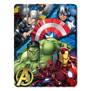 ENT 018 Marvel Defend Earth Throw Blanket
