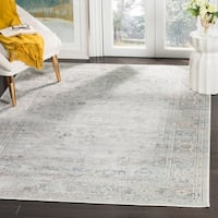 Safavieh Vintage Oriental Light Blue Distressed Silky Viscose Rug - 5' x 8'