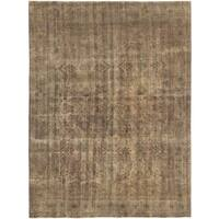 Serapi Heritage Brown Wool Rug - 8'0 x 8'0