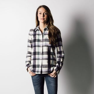 1791 Supply & Co Women's Multi Plaid Flannel Shirt