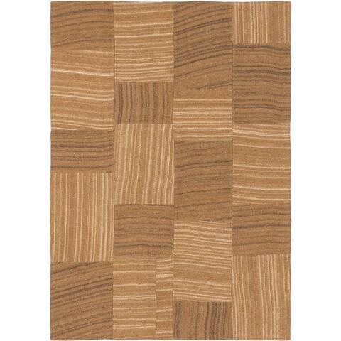 Flat-weave Moldovia Patch Black, Cream Wool Kilim