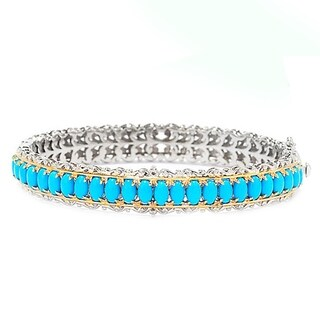 Michael Valitutti Palladium Silver Sleeping Beauty Turquoise Bangle