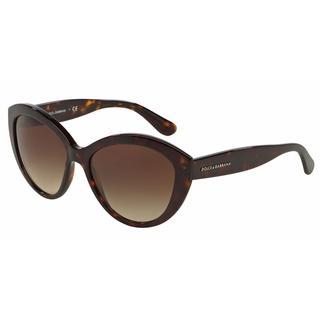 Dolce&Gabbana Women DG4239 CONTEMPORARY 502/13 Havana Plastic Oval Sunglasses
