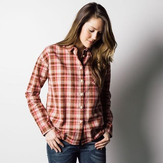 1791 Supply & Co Women's Pink Pioneer Plaid Shirt