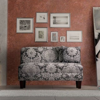 Briley Belmont Metal Grey Print Armless Loveseat