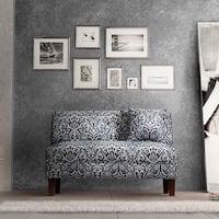 Briley Winchester Midnight Grey Fabric Armless Loveseat