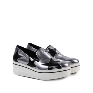 Stella McCartney Binx Silver Star Loafers