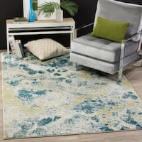 Safavieh Watercolor Contemporary Ivory/ Light Blue Rug (5' 3 x 7' 6 ) - 5'3 x 7'6