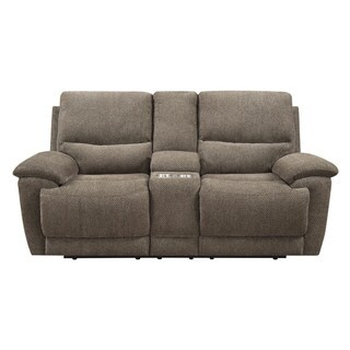 Emerald Sway Brown Dual Reclining Love with Console