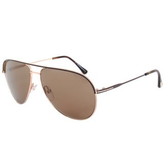Tom Ford Erin FT0466 50J Rose Gold/Dark Brown Frame Brown Lens Sunglasses