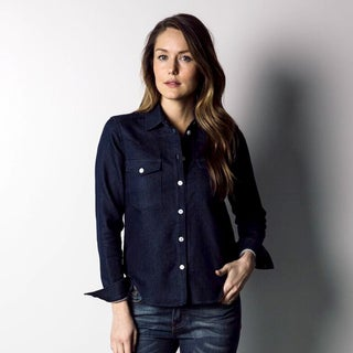 1791 Supply & Co Women's Indigo Knit Western Shirt