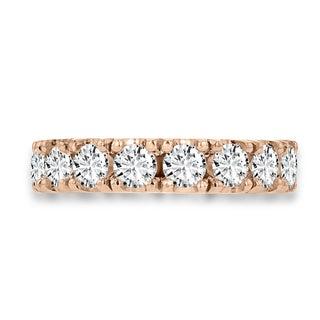 14k Rose Gold 2.05 ct TDW Round-cut Diamond Wedding Band
